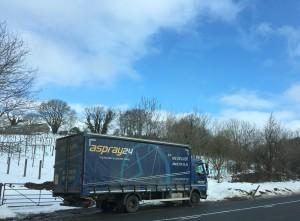 Aspray lorry in snow
