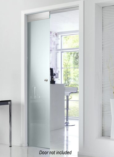 Pocket doors for frameless glass doors