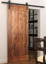 Rustic barn door gear