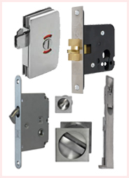Locks and bolts for sliding doors