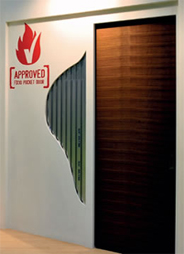 Pocket doors for fire rated doors