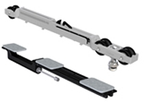Soft Brake carrier and in-rail stop