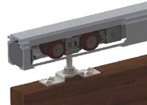 Top track with 01302 hanger for timber doors