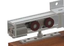 02268 hanger for timber door with OPTIONAL 02005 wall brackets