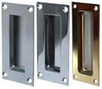 Rectangular flush pulls for timber doors