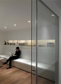 SAHECO Roller 90 Fixed Panel System for glass sliding doors