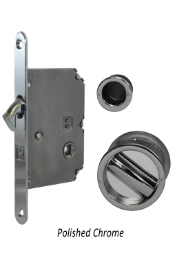 JV825 Pocket door bathroom lock set, PCP