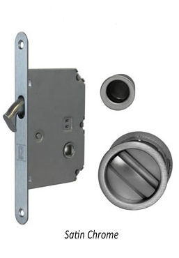 JV825 Pocket door bathroom lock set, SCP