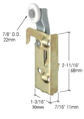 N-7046 Replacement nylon wardrobe door roller