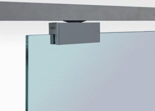 Geze rollan 80g sliding door gear for frameless glass for Top hung sliding glass doors