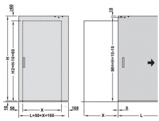 SLIDO Design 80-M concealed softstop kit, door sizes