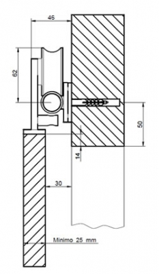 Projeto 150 Designer Sliding Door Gear For Timber Doors