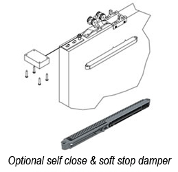 Optional self close with damper
