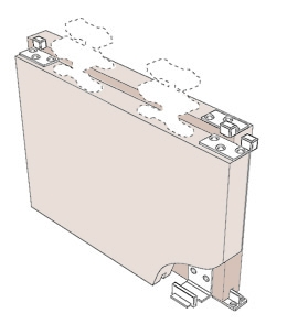 SF-T simple telescopic kit for timber sliding doors, illustration