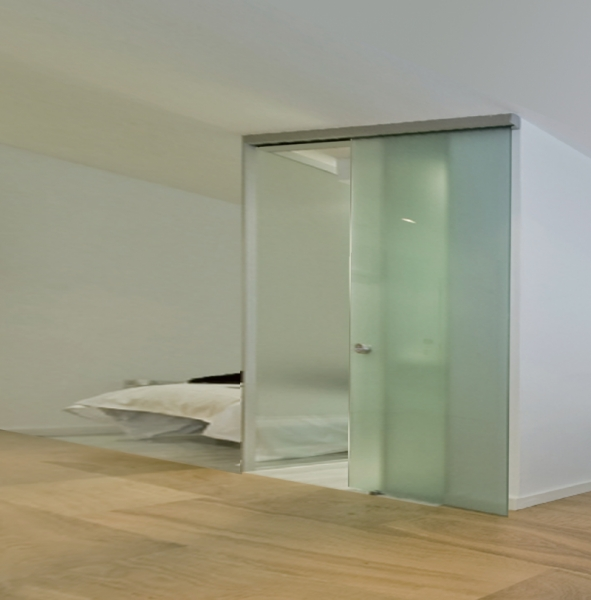 Saheco Compact X Frameless Glass Sliding Door Gear