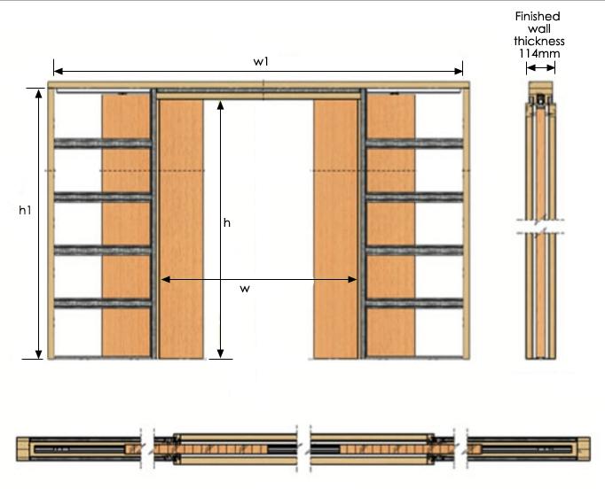 Double Pocket Door Installation : Double pocket door installation imgkid the