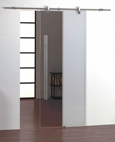 Projeto 45G frameless glass sliding door gear