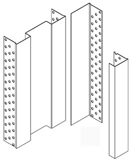 iMpero architrave free pocket door gear - frame beading sections