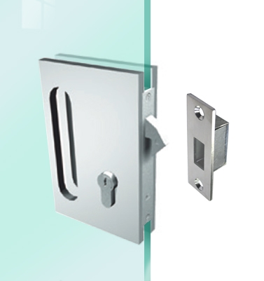 Saheco 6665 Euro Profile Glass Sliding Door Hook Lock