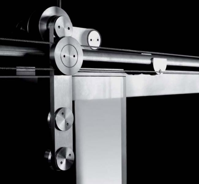Designer sliding door gear for frameless glass sliding doorstuff