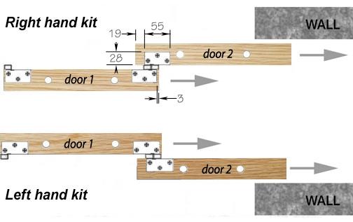 GEZE Rollan Telescopic Sliding Door Gear   Handing