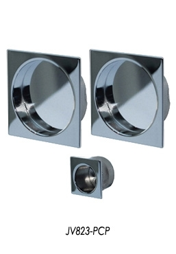 JV823-PCP Square flush pull set, Polished Chrome
