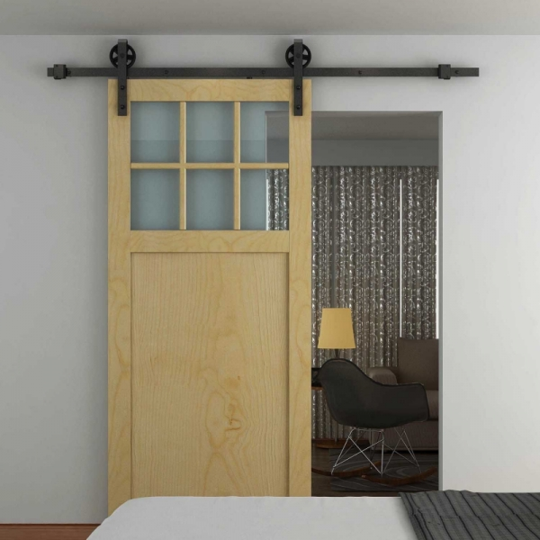 Rustico 80G barn style timber sliding door kit