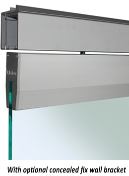 SAHECO Roller 90 for Frameless Glass Doors with Soft Brake - optional concealed fixing