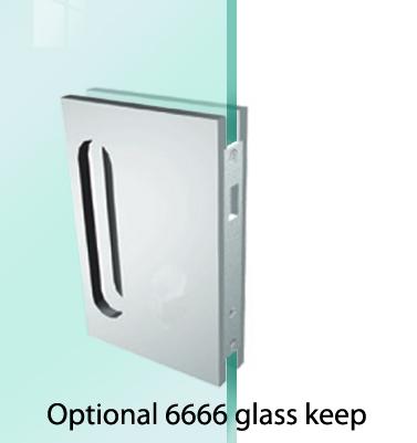 Saheco 6665 Euro Profile Glass Sliding Door Hook Lock