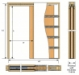 iMpero Slide single pocket door kit - key to table